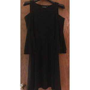 Lauren Ralph Lauren sz 4 cold shoulder black dress